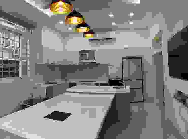 開放式餐厨區 根據 艾莉森 空間設計 田園風