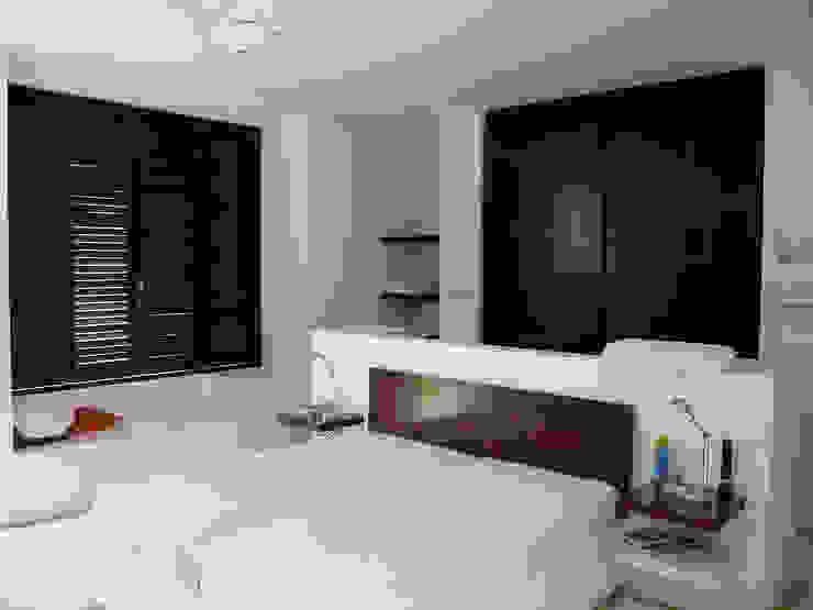 غرفة نوم تنفيذ NOAH Proyectos SAS, حداثي الخرسانة