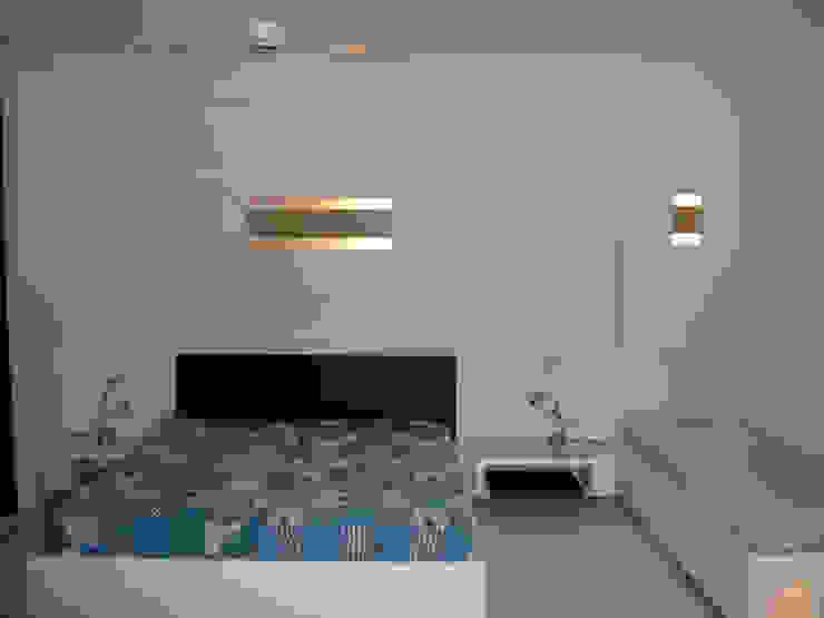 NOAH Proyectos SAS Modern style bedroom Concrete White