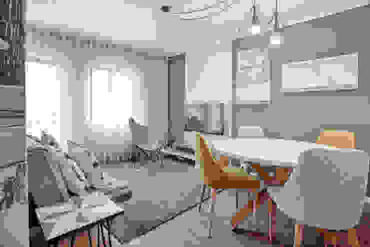 Sala de estar | Sala de Jantar por EMME Atelier de Interiores Moderno