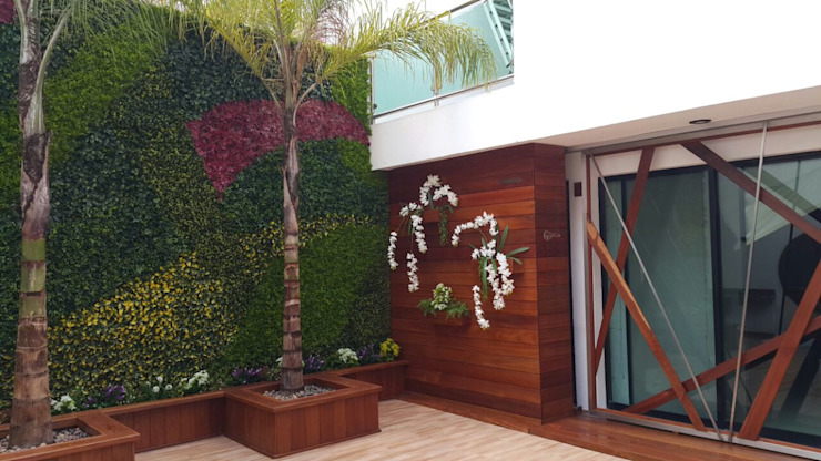 Balconies, verandas & terraces by Arquitectura Orgánica Viviana Font