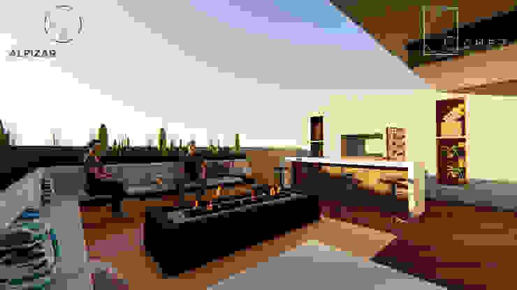 AMBIGUO GóMEZ arquitectos Balcones y terrazas modernos