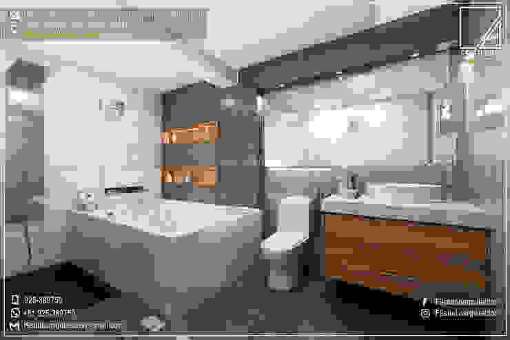 Diseño y Remodelacion de Baño Principal en Tacna-Perú de F9.studio Arquitectos
