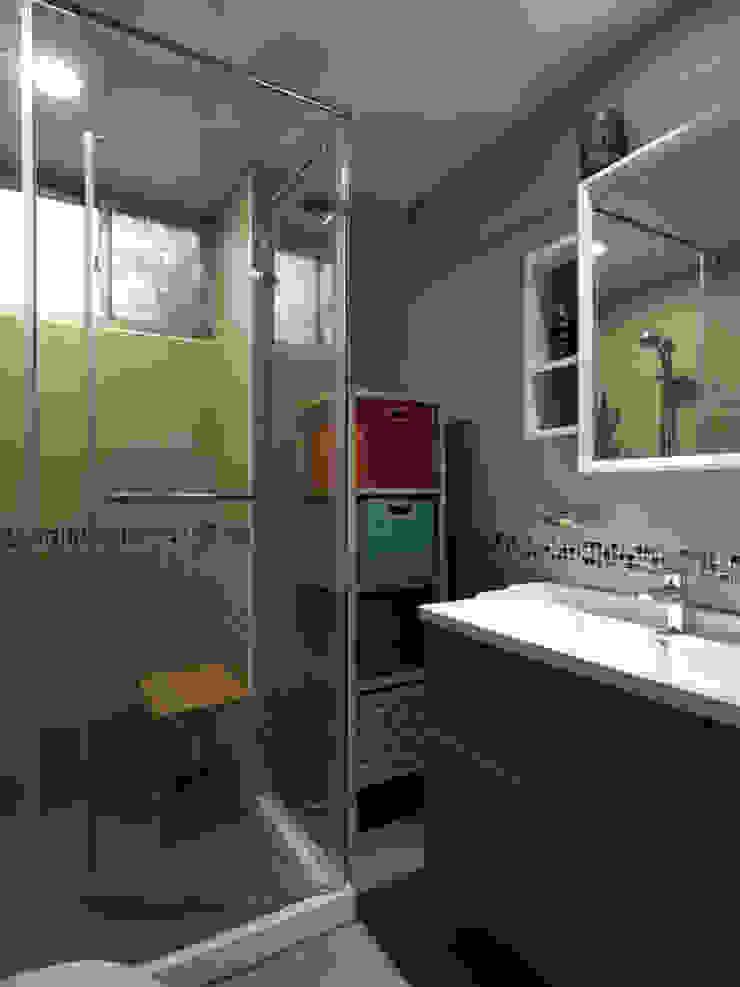 跨界風格 現代浴室設計點子、靈感&圖片 根據 TGDesgin.Studio 現代風