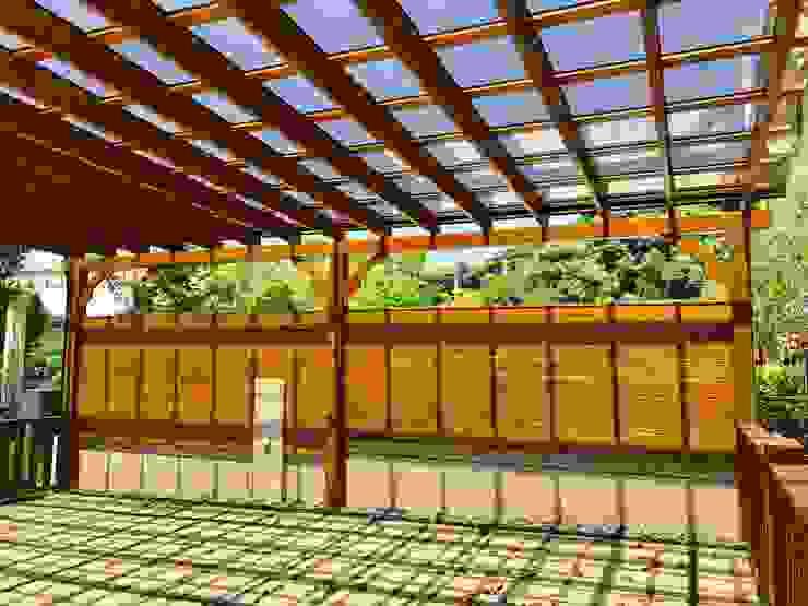 庭院實木南方松圍牆。圍籬 根據 園匠工坊-採光罩 玻璃屋 小木屋 露台 南方松木作工程
