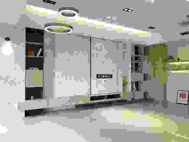 室內設計空間設計 根據 倢居室內設計 現代風 實木 Multicolored
