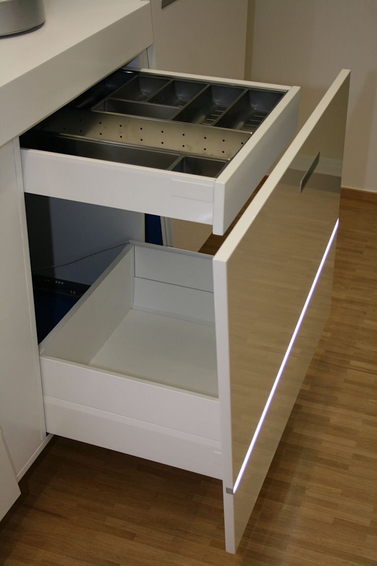 higloss-design.de - Ihr Küchenhersteller ครัวบิลท์อิน แผ่น MDF White