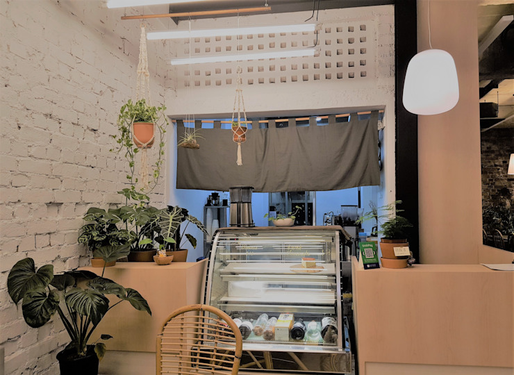 Locales gastronómicos de estilo  de Phương Đàm, Minimalista