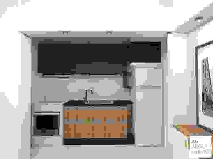 Monoambiente - Palermo : Cocinas de estilo  por Arquimundo 3g - Diseño de Interiores - Ciudad de Buenos Aires