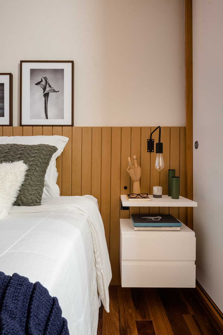 Eclectic style bedroom by Macro Arquitetos Eclectic Wood Wood effect
