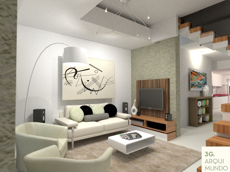 Diseño aplicado a la salud- Belgrano R Livings modernos: Ideas, imágenes y decoración de Arquimundo 3g - Diseño de Interiores - Ciudad de Buenos Aires Moderno