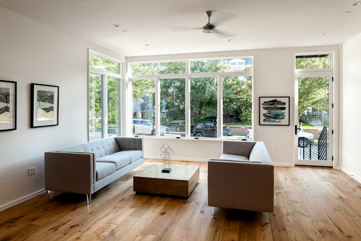 Kenyon St Modern Living Room by KUBE architecture Modern