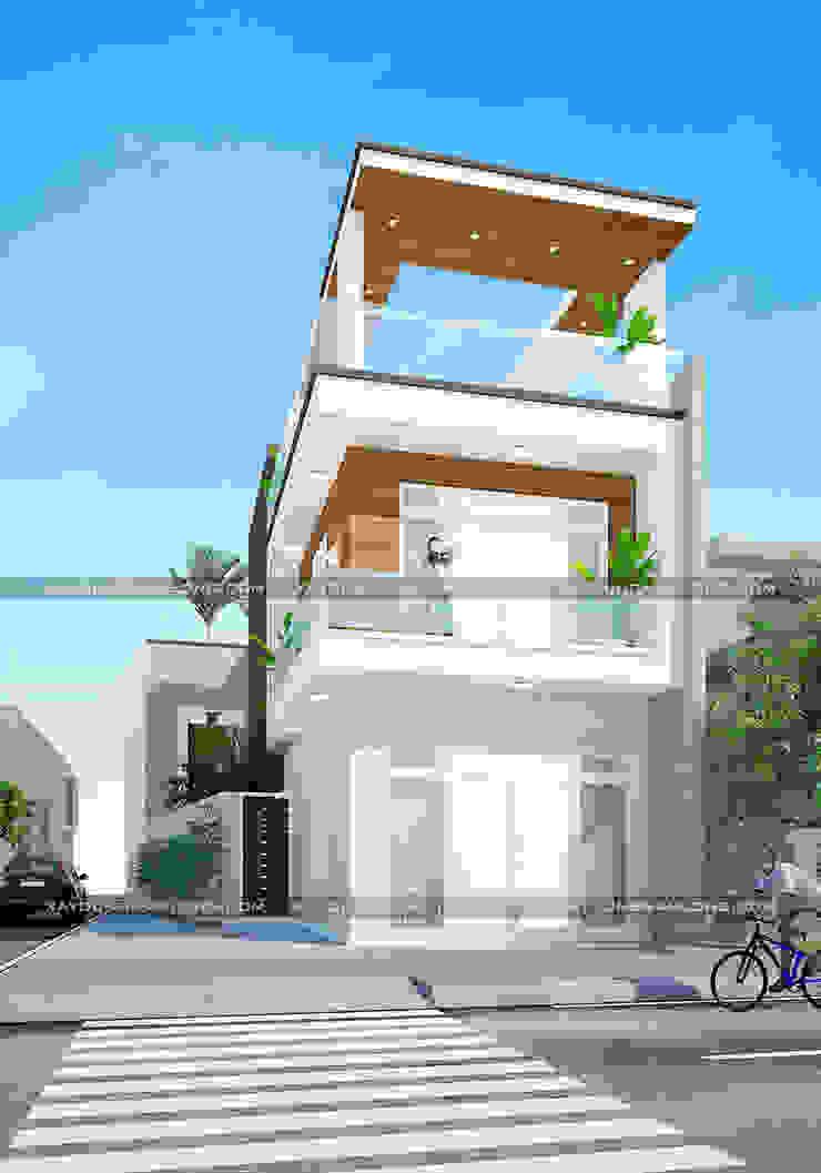 Nhà phố 2 mặt tiền bởi Công ty cổ phần tư vấn kiến trúc xây dựng Nam Long Hiện đại Sắt / thép