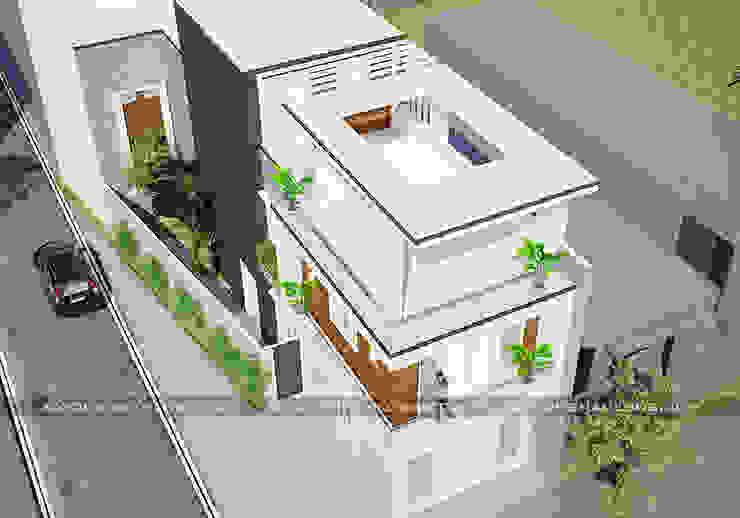 Nhà phố 2 mặt tiền bởi Công ty cổ phần tư vấn kiến trúc xây dựng Nam Long Hiện đại