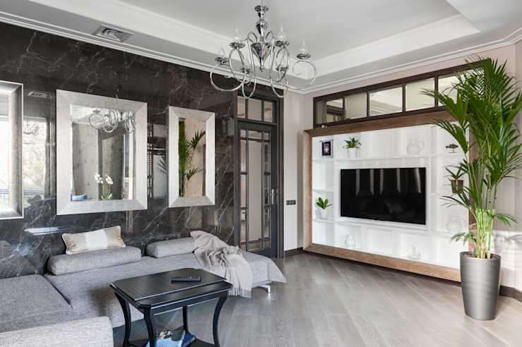 Гостиная в стиле ар-деко Гостиные в эклектичном стиле от интерьеры от частного дизайнера Эклектичный