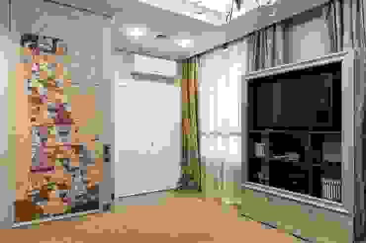 Реализованный проект интерьеров квартиры 159 кв. метров на Суворовском проспекте Спальня в эклектичном стиле от интерьеры от частного дизайнера Эклектичный