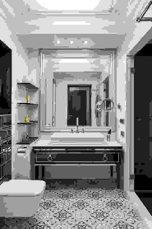Реализованный проект интерьеров квартиры 159 кв. метров на Суворовском проспекте Ванная комната в эклектичном стиле от интерьеры от частного дизайнера Эклектичный