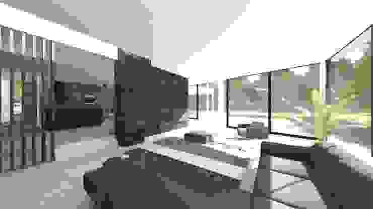 Villa MLVB Moderne woonkamers van 2architecten Modern