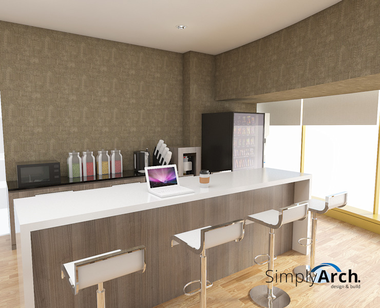 Mini Bar and Multi function top table Modern office buildings by Simply Arch. Modern