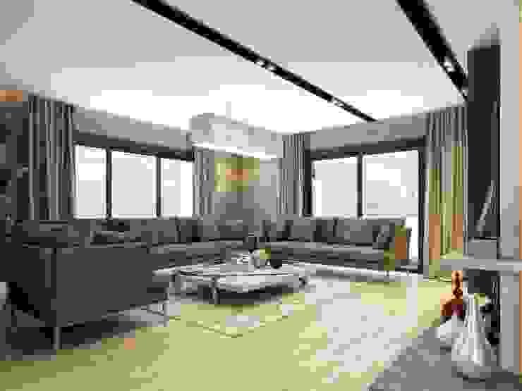 Oturma odası aydınlatma ANTE MİMARLIK Modern Oturma Odası
