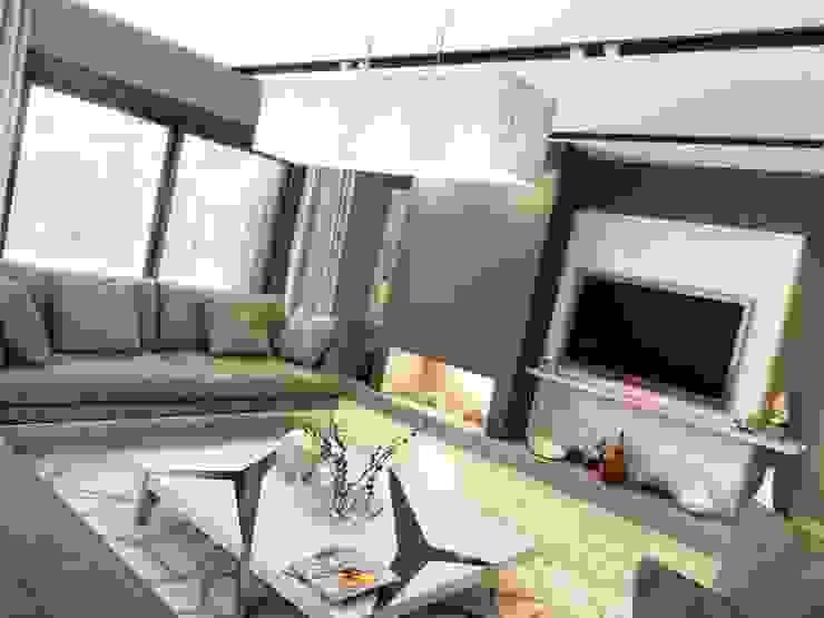 ANTE MİMARLIK  – Şömine köşesi:  tarz Oturma Odası, Modern
