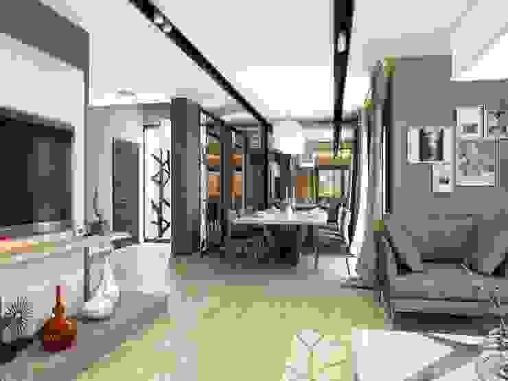 Galeri boşluğu ANTE MİMARLIK Modern Oturma Odası