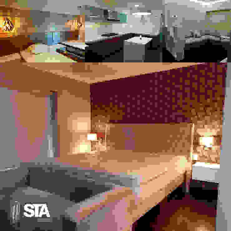 por Soluciones Técnicas y de Arquitectura Moderno Madeira Efeito de madeira