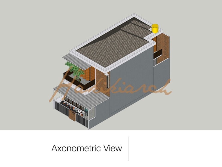 House/Office Oleh Hakikiarch Architect Freelancer Modern