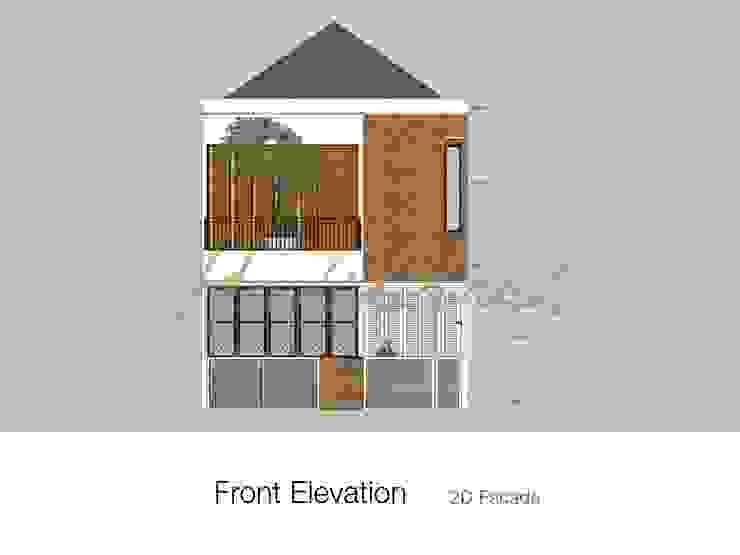 House/Office Balkon, Beranda & Teras Modern Oleh Hakikiarch Architect Freelancer Modern