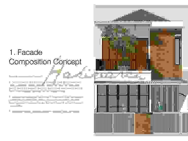 House/Office Garasi Modern Oleh Hakikiarch Architect Freelancer Modern