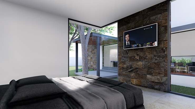 RECAMARA PRINCIPAL Dormitorios modernos de GRUPO VOLTA Moderno Piedra