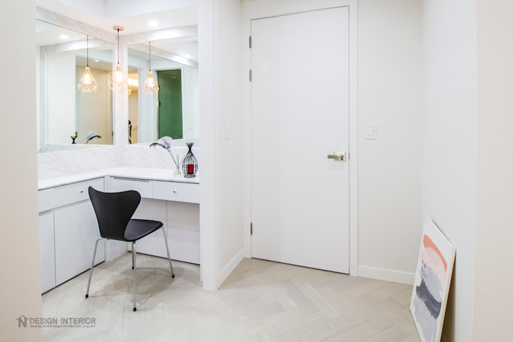 동탄인테리어 동탄메타폴리스 54평 아파트 by.n디자인 모던스타일 다이닝 룸 by N디자인 인테리어 모던