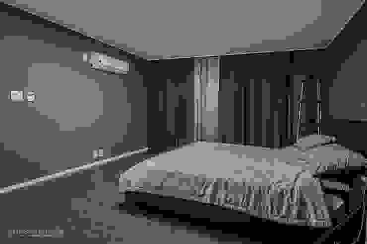 동탄인테리어 동탄역 시범 한화꿈에그린 아파트 신혼집 인테리어 by.n디자인인테리어 모던스타일 미디어 룸 by N디자인 인테리어 모던