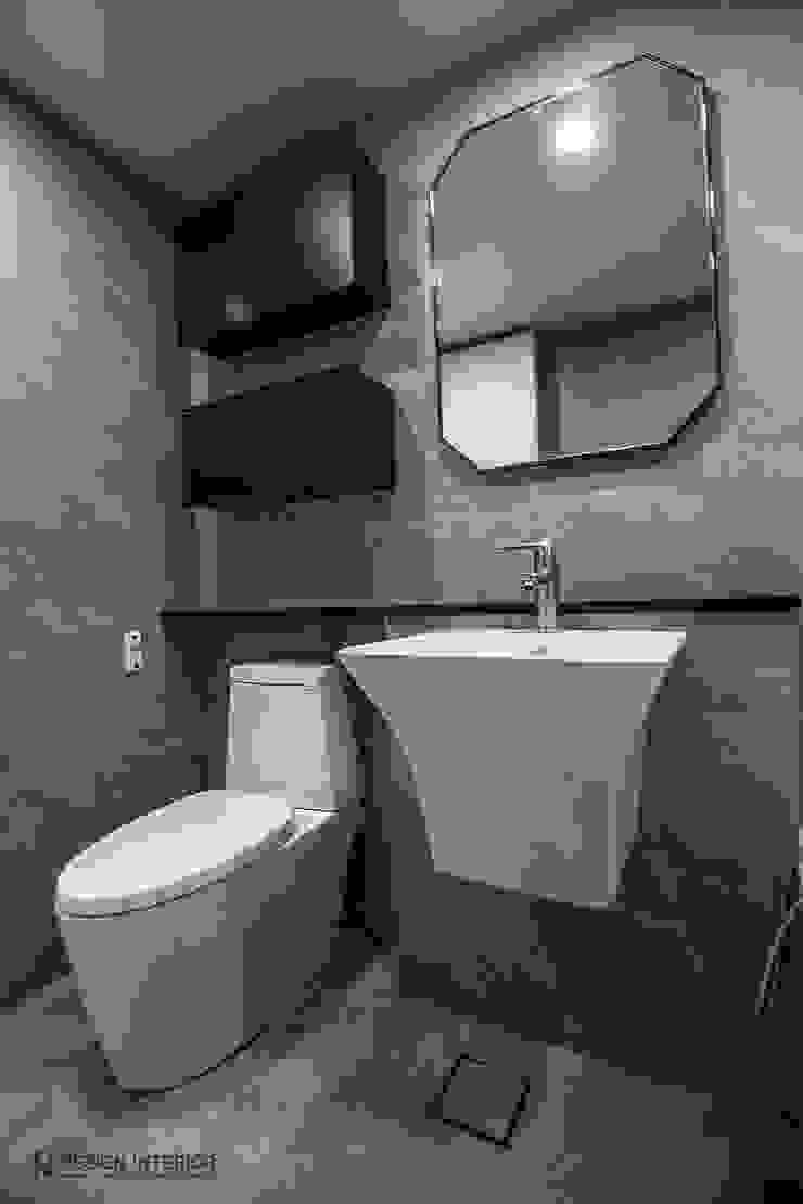 동탄인테리어 동탄역 시범 한화꿈에그린 아파트 신혼집 인테리어 by.n디자인인테리어 모던스타일 욕실 by N디자인 인테리어 모던