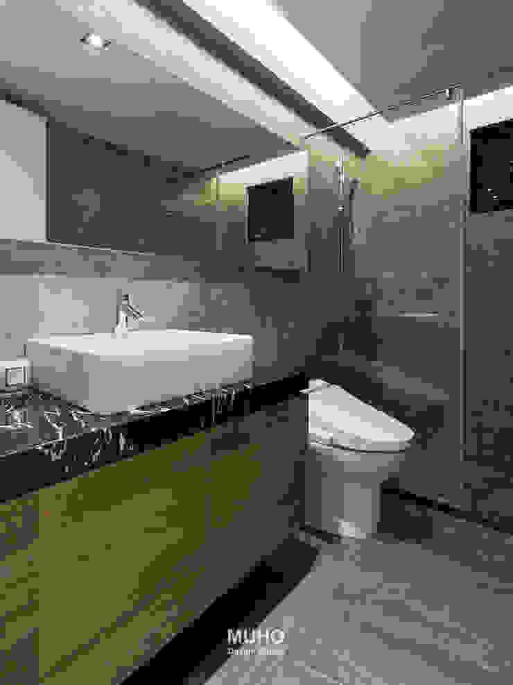 L宅_線。域 現代浴室設計點子、靈感&圖片 根據 沐禾設計事務所 現代風