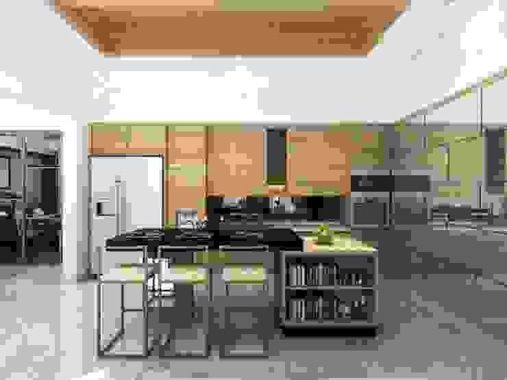 Apartment Senanyan Ruang Keluarga Modern Oleh iwan 3Darc Modern