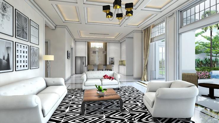 Modern living room by iwan 3Darc Modern