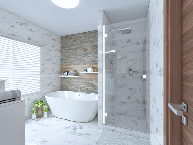 Common bathroom view 1 by Linken Designs