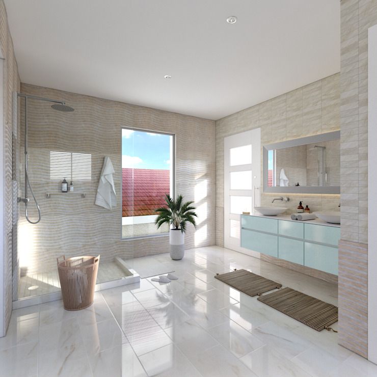 Master bathroom 1 by Linken Designs