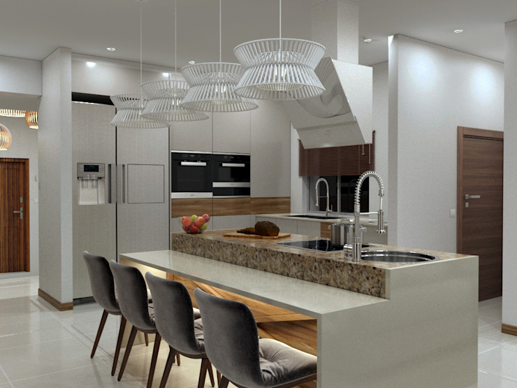 Kitchen area 根據 Linken Designs