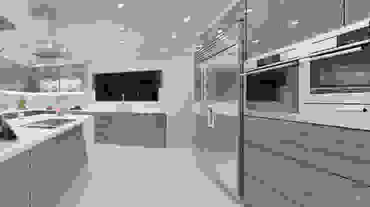 Espresso kitchen View 3 by Linken Designs