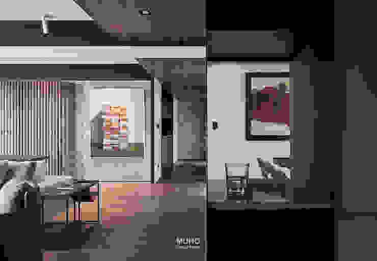 L宅_疊敘 現代風玄關、走廊與階梯 根據 沐禾設計事務所 現代風