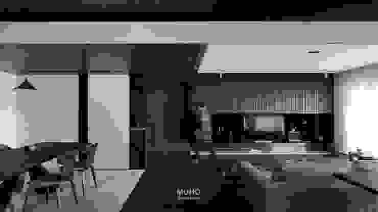 L宅_疊敘 现代客厅設計點子、靈感 & 圖片 根據 沐禾設計事務所 現代風