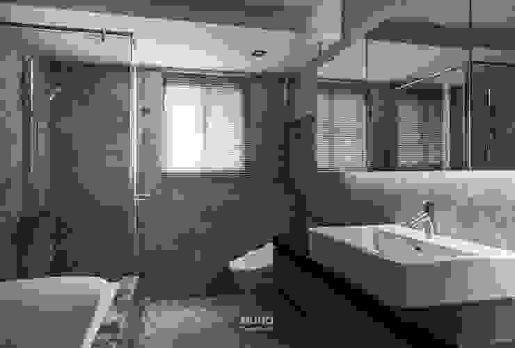 L宅_疊敘 現代浴室設計點子、靈感&圖片 根據 沐禾設計事務所 現代風
