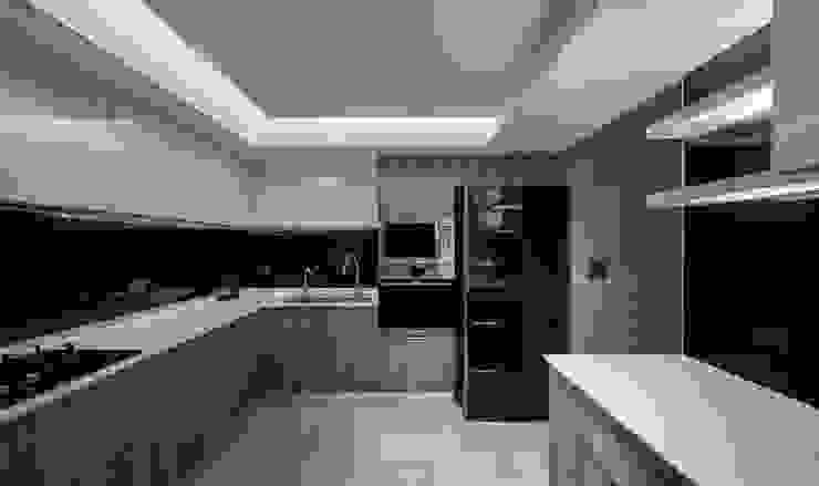 L宅_疊敘 現代廚房設計點子、靈感&圖片 根據 沐禾設計事務所 現代風