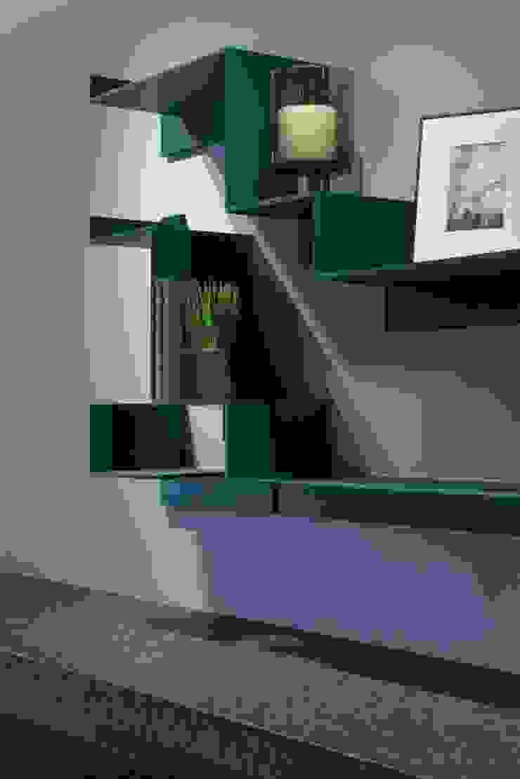宸域空間設計有限公司 Pareti & Pavimenti in stile moderno Blu