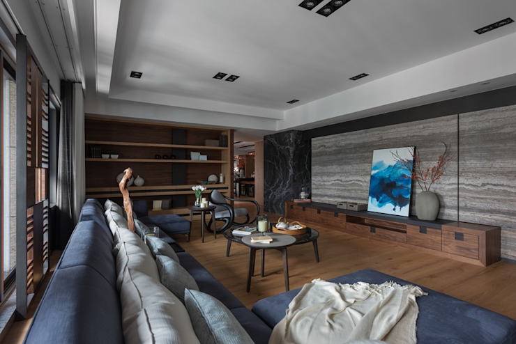宸域空間設計有限公司 Soggiorno moderno