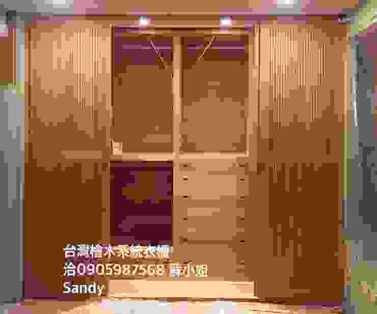台灣檜木老料新作 系統衣櫃: 斯堪的納維亞  by Sandy's Shop/台灣檜木系統精品家具, 北歐風 實木 Multicolored