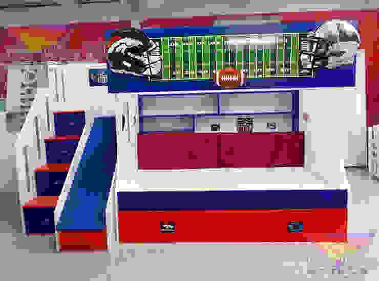 Fantástica Litera juvenil de Fútbol americano de camas y literas infantiles kids world Moderno Derivados de madera Transparente