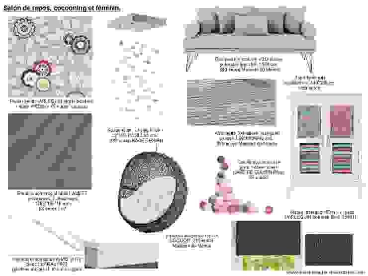 Planches tendances (projets divers) Salon original par Lucile Tréguer, décoratrice d'intérieur Éclectique